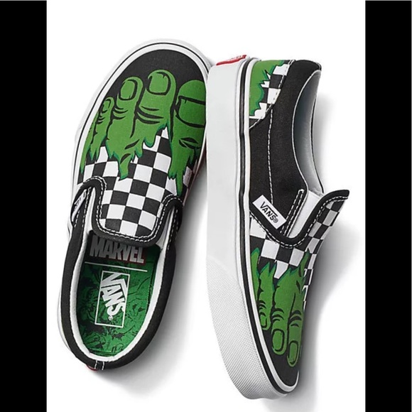 ea90199df4 Vans kids Marvel Hulk Limited Edition shoes NIB
